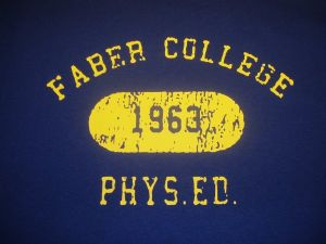 MENS RETRO FABER COLLEGE PHYS ED (ANIMAL HOUSE) T-SHIRT